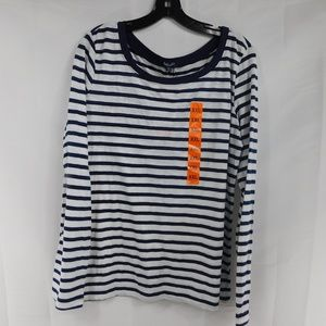 Splendid Horizontal Stripe button back top XXL